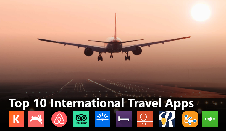 Top 10 international travel mobile apps